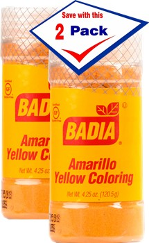 Badia Yellow Coloring/Amarillo (specialty) 4.25 oz Pack of 2 ...
