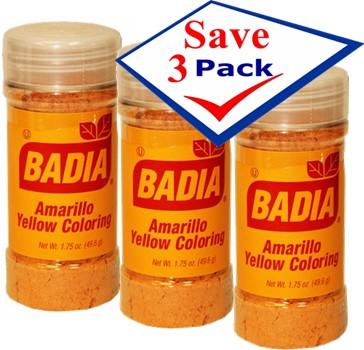 Badia Yellow Coloring/Amarillo (standard) 1.75 oz Pack of 3 ...