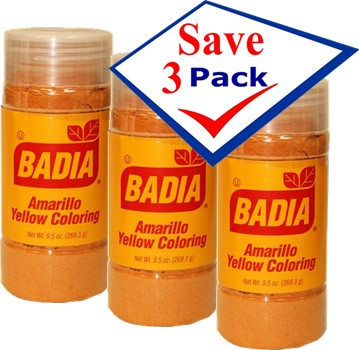 Badia Yellow Coloring/Amarillo (economy) 9.5 oz Pack of 3 ...