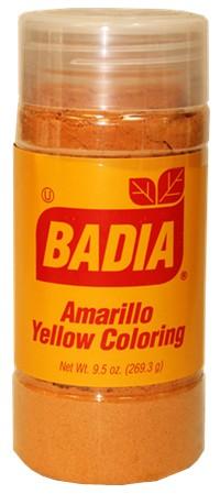 Badia yellow coloring 9.5 oz Badia spices , condiments and marinades