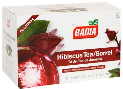 Badia Hibiscus Tea Sorrel 25 Tea Bags Cubanfoodmarketcom