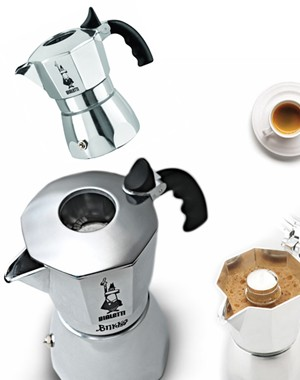 Bialetti Brikka Cuban Coffee Maker 4 Cups