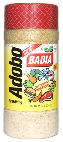 Badia Adobo Seasoning With Pepper 15 Oz Cubanfoodmarket Com