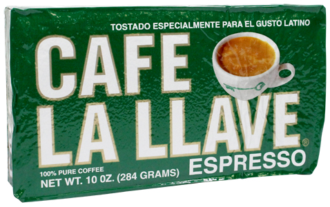 La Llave Cuban coffee. Vacuum pack. 10 Oz