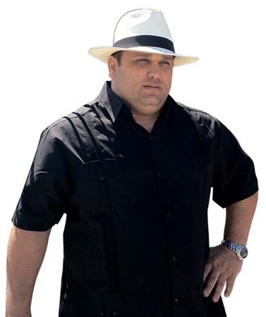 Cuban Style Guayabera Shirt For Men Short Sleeve