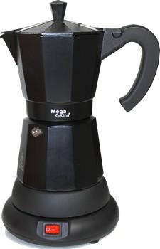 Mega Electric Espresso Coffee Maker Adjusts 3 To 6 Cups Black