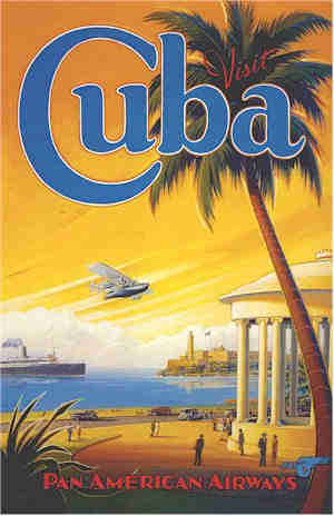 poster cuba in the 1940s