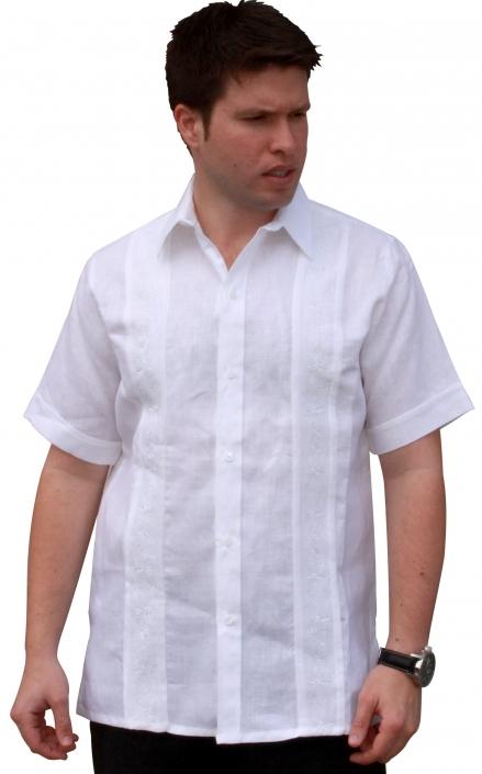 75943d0a Wedding Guayabera Shirt for Men with Beautiful Embroidery -Short Sleeve,  Premium Linen Fabric-: CubanFoodMarket.com