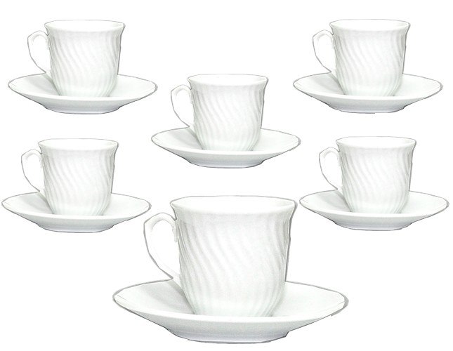 Espresso Demitasse Set with Gold Trim With Cuban Coat of Arms Metal Insert Set of 6