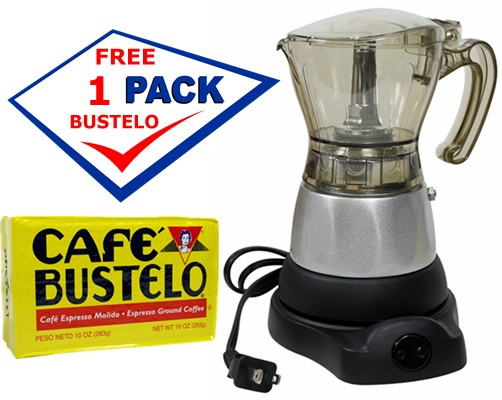 Bene Casa Electric Cuban Coffee Maker 1 To 3 Cups Includes A Free Cafe Bustelo