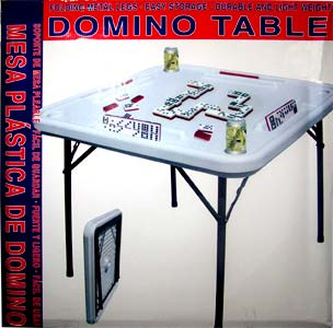 Plastic Domino Table With Cup Holders Ships For Only