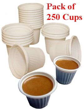 Economy Disposable Mini Cups For Cuban Coffee 250 3 4 Oz Capacity