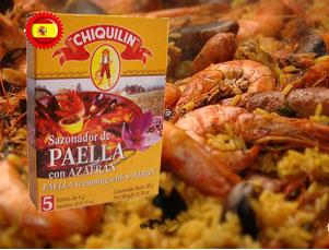Chiquilin paella sasoning wth safron for Azafran cuban cuisine
