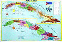 Map Cuba With Political Divisions 37 X 26 Inch Cubanfoodmarket Com